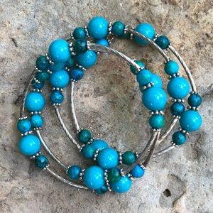 💗Turquoise-Dyed Jasper Handmade Bracelet💓
